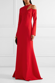 Antonio Berardi Cutout embellished stretch-cady gown