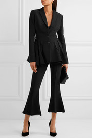Antonio Berardi Cutout button-detailed crepe blazer