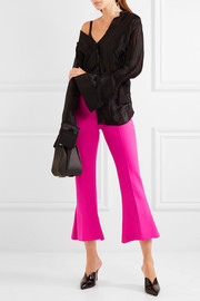 Antonio Berardi Cropped stretch-wool flared pants