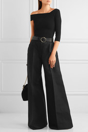 Antonio Berardi Cotton and wool-blend wide-leg pants