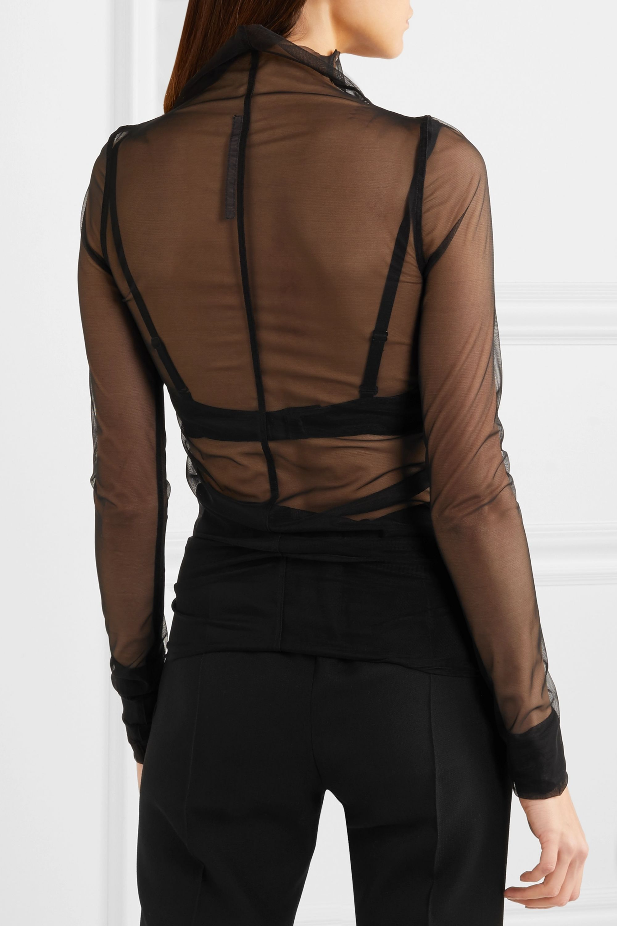 Rick Owens Stretch-tulle top