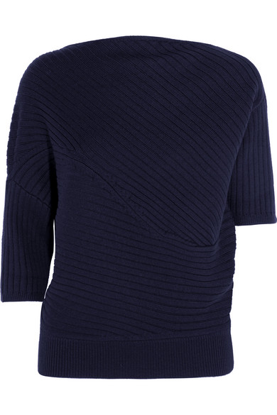 J.W.Anderson - Infinity Ribbed Merino Wool Sweater - Navy