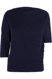 Infinity ribbed merino wool sweater