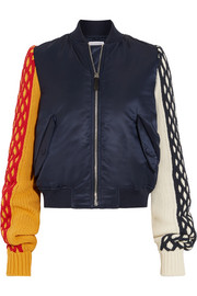 J.W.Anderson Wool-paneled shell bomber jacket