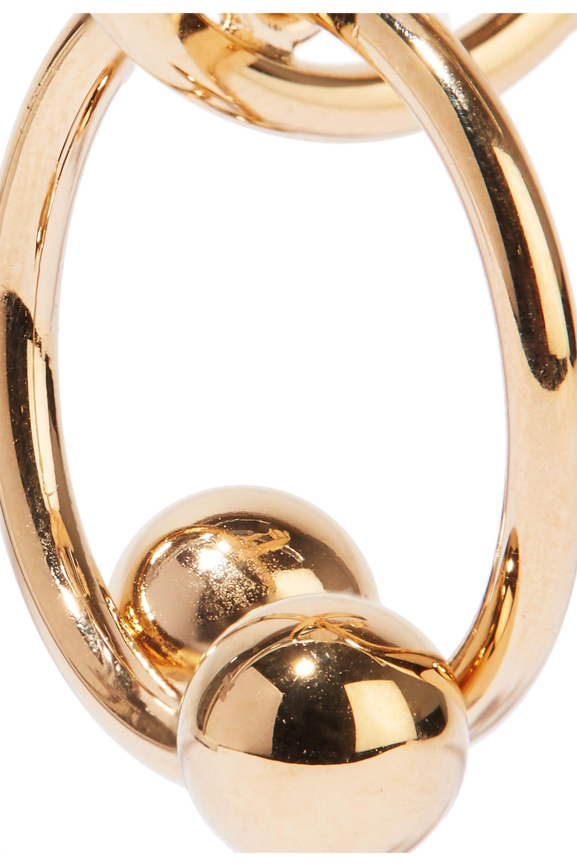 JW Anderson Pierce gold-plated hoop earrings