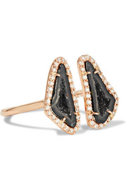 Kimberly McDonald 18-karat rose gold, geode and diamond ring