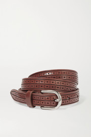 Isabel Marant Kaylee perforated leather belt