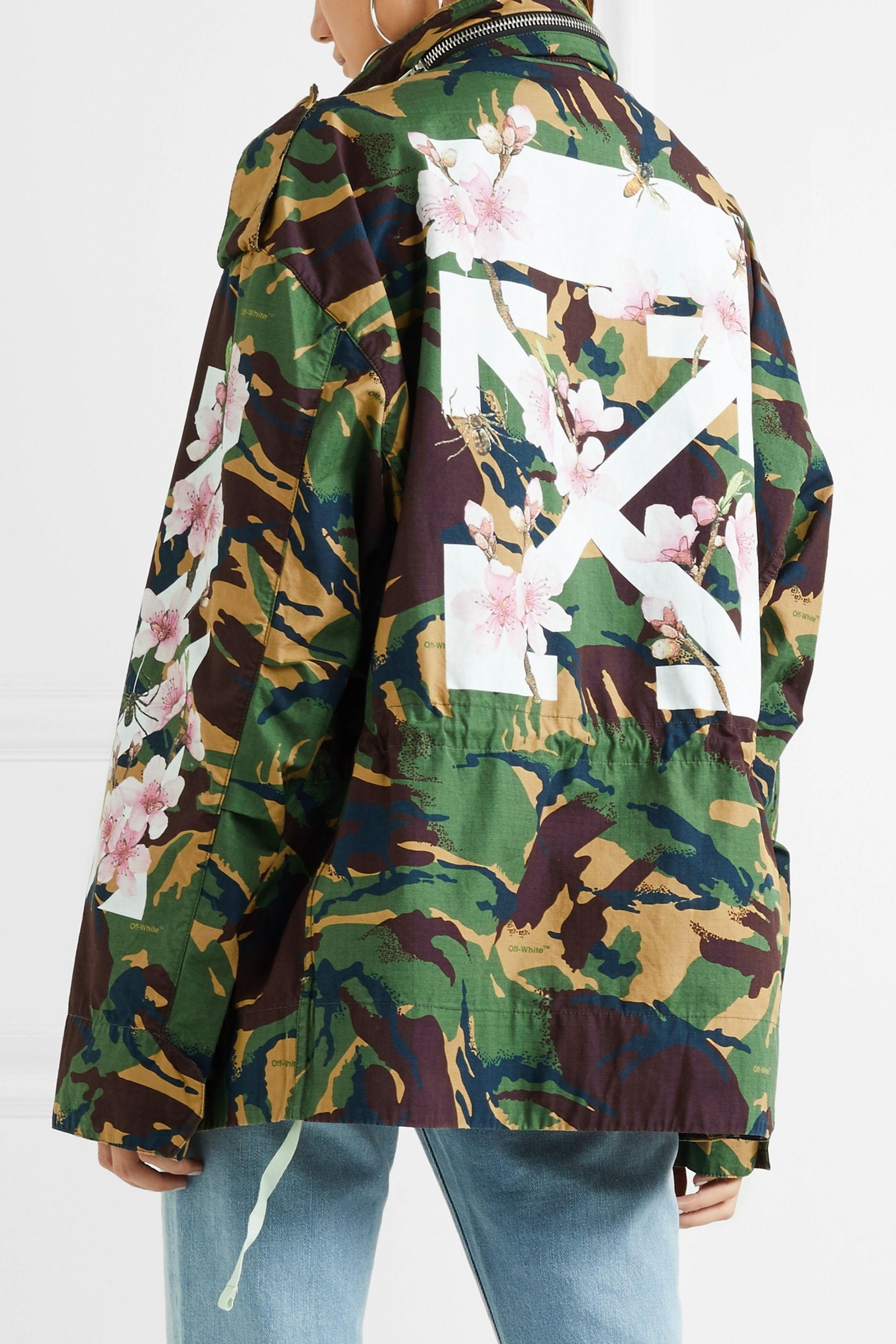 Off-White Camouflage-print cotton-canvas jacket