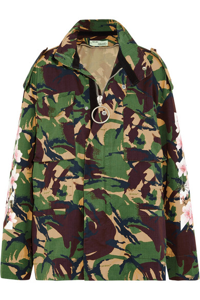 Off-White - Camouflage-print Cotton-canvas Jacket - Army green