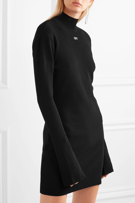Off-White Angel open-back stretch-knit mini dress