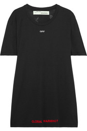 Off-White Oversized printed jersey T-shirt