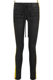 Off-White Strap coated mid-rise skinny jeans