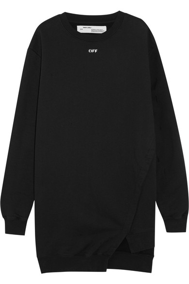 Off-White - Open-back Cotton-jersey Mini Dress - Black