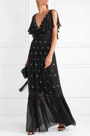 Temperley London Starling embellished chiffon gown