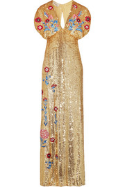 Temperley London Wild Horse embroidered sequined tulle gown