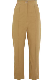 Temperley London Blueberry cotton-blend twill straight-leg pants