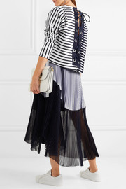 Dixie lace-up striped cotton-jersey top