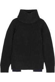 Sacai Oversized wool turtleneck sweater