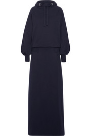Hooded cotton-jersey maxi dress