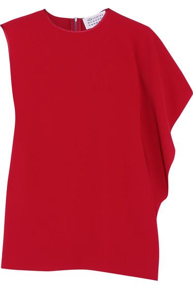 Maison Margiela - Asymmetric Draped Crepe Top - Red