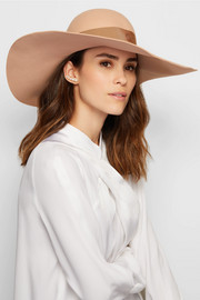 Lucia wide-brim rabbit-felt hat