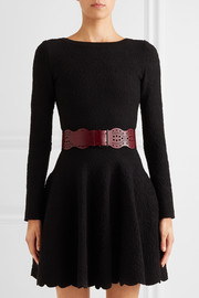 Vienne Vague mini laser-cut leather waist belt