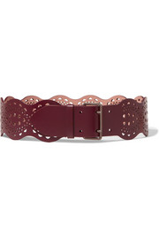Alaïa Vienne Vague mini laser-cut leather waist belt