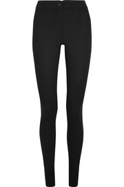 Stretch-wool crepe skinny pants