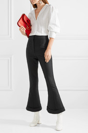 Nino cropped wool and cotton-blend flared pants