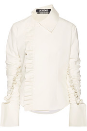 La Chemise Paco ruffle-trimmed crepe top