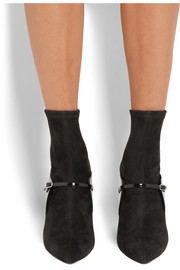 Givenchy New Feminine patent-leather and stretch-suede sock boots