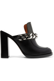 Givenchy Chain-trimmed leather mules