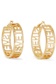 Vetements Gold-plated hoop earrings