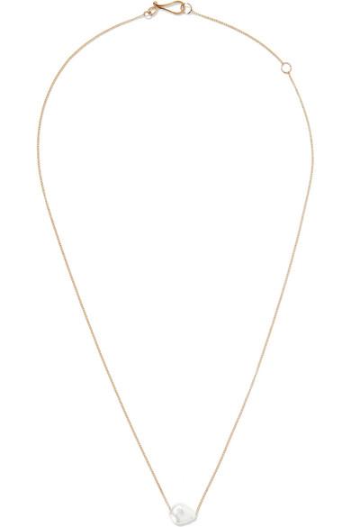 Melissa Joy Manning - 14-karat Gold Pearl Necklace - one size