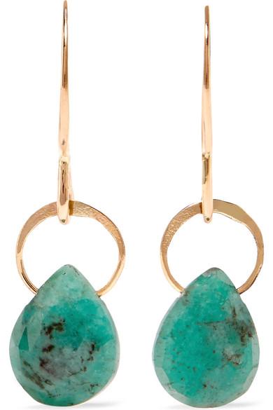 Melissa Joy Manning - 14-karat Gold Emerald Earrings