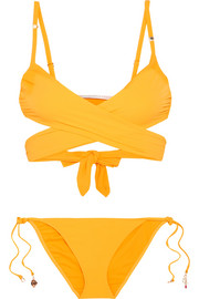 Stella McCartney Embellished wrap bikini