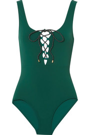 Stella McCartney Botanical lace-up swimsuit