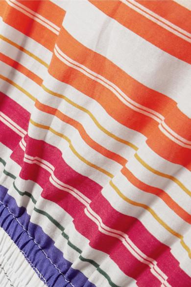 Stella McCartney Gestreifter Playsuit aus Voile aus einer Baumwoll-Seidenmischung