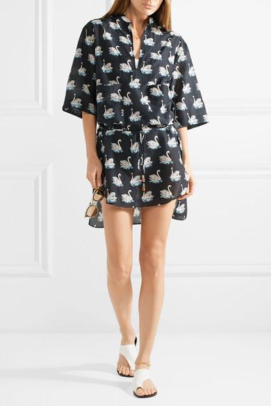 Stella McCartney Strandkleid aus einer bedruckten Baumwoll-Seidenmischung