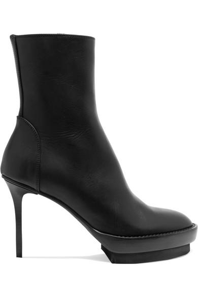 Ann Demeulemeester Ankle Boots aus Leder mit Plateau