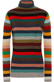 Allude Striped cashmere turtleneck sweater