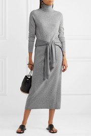 Allude Wool and cashmere-blend turtleneck maxi dress
