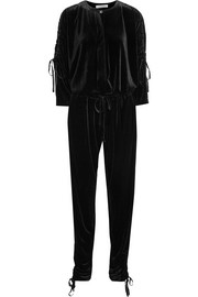 Ruby ruched velvet jumpsuit