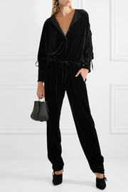Preen Line Ruby ruched velvet jumpsuit