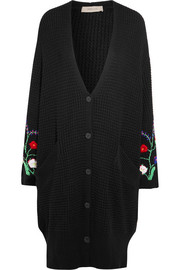 Preen Line Ada oversized embroidered cotton-blend cardigan