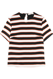 Preen Line Isabelle striped crepe de chine T-shirt