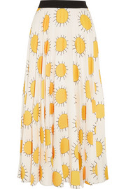 Christopher Kane Printed crepe midi skirt