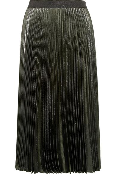 ad54dfbbc Christopher Kane   Pleated silk-blend lamé skirt   NET-A-PORTER.COM