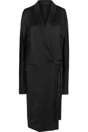 Haider Ackermann Belted satin coat