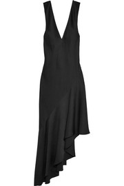 Kuiper asymmetric satin maxi dress